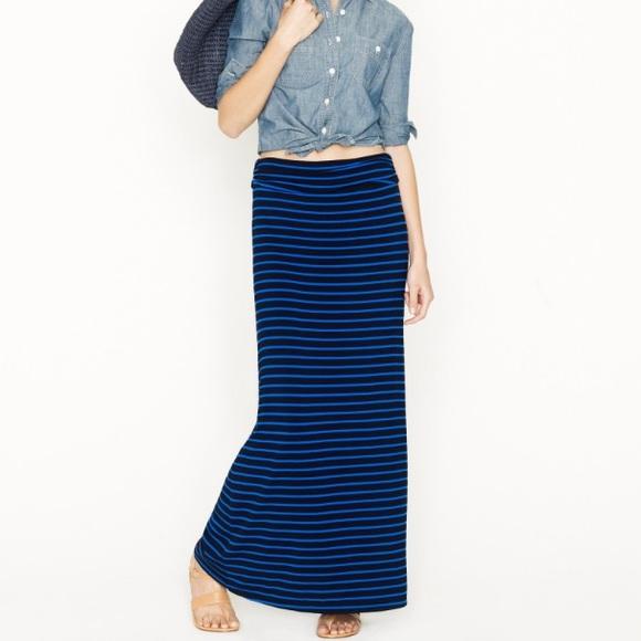 84b1098057 J. Crew Dresses & Skirts - J. Crew • Striped Jersey Maxi Skirt